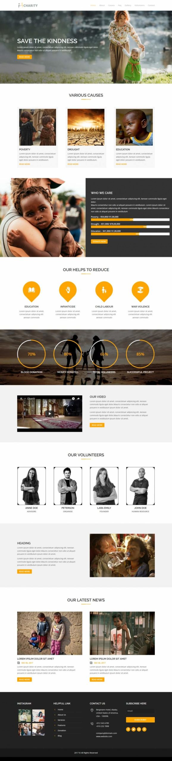 Charity - Home Page - Keenicon