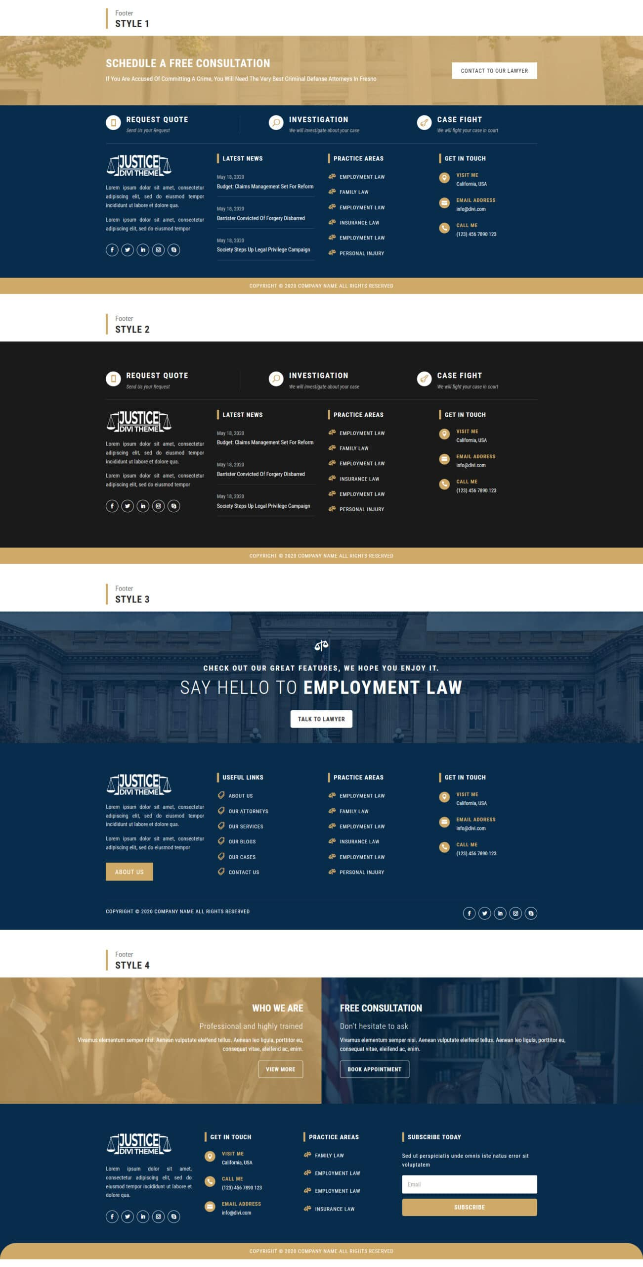 Divi-justice-theme-footer